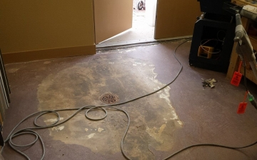 Bella Art And Frame Gallery Concrete Floor epoxy faux finish