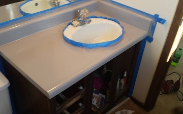 Epoxy cabinet countertop project