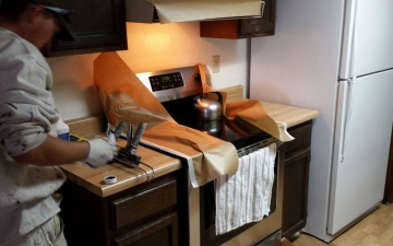 Epoxy cabinet countertop project_14