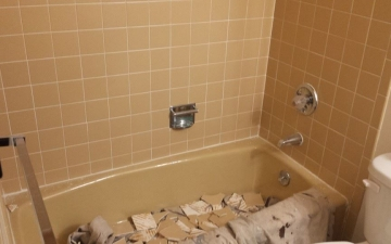 Porcelain Sinks, Tub, and, Tile, REFINISH job_9